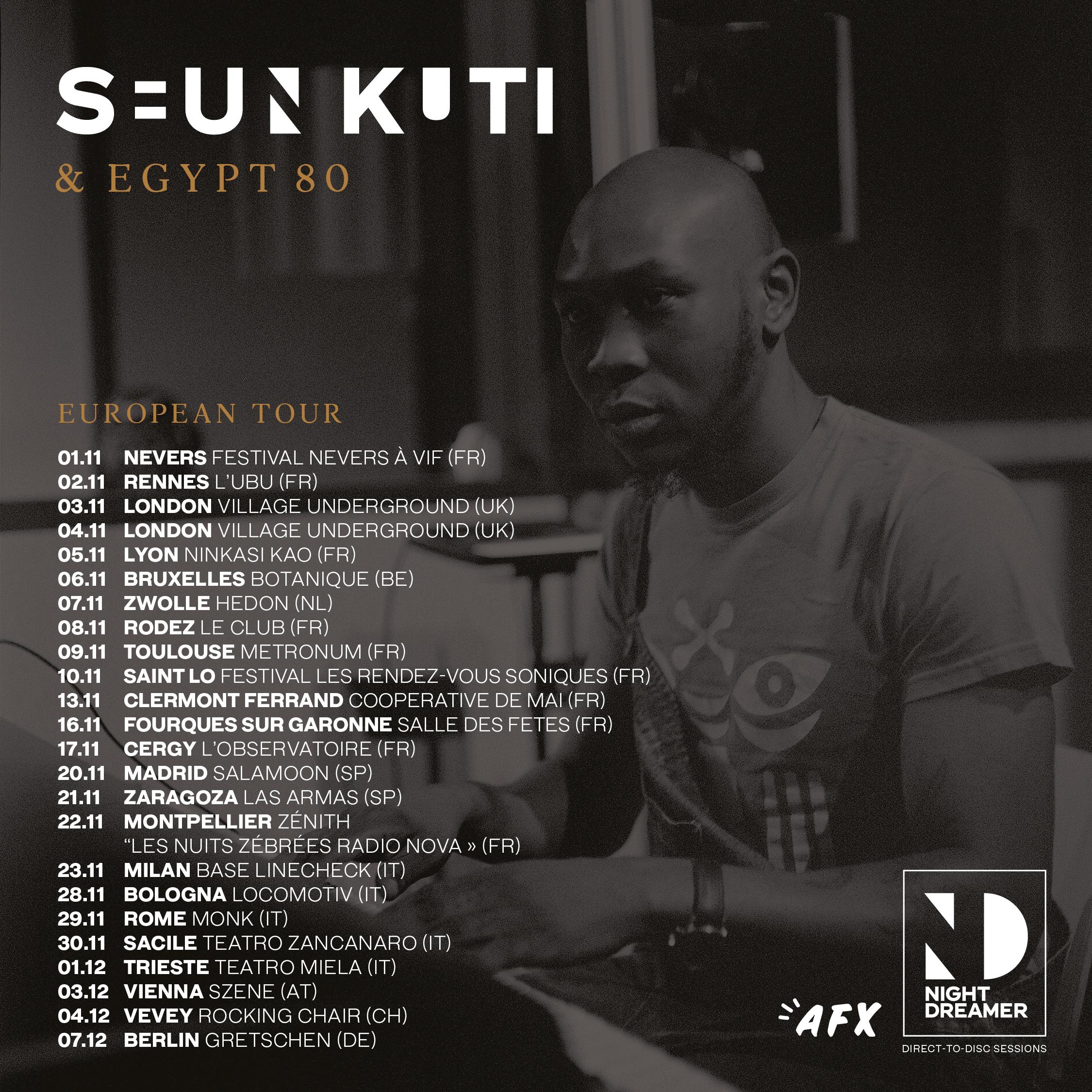 Seun Kuti & Egypt 80 en tournée